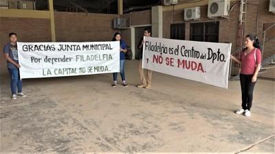 Concejales solicitan retiro del proyecto que busca trasladar la Capital de Boquerón