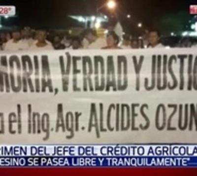 Claman justicia por asesinato de funcionario del Crédito Agrícola