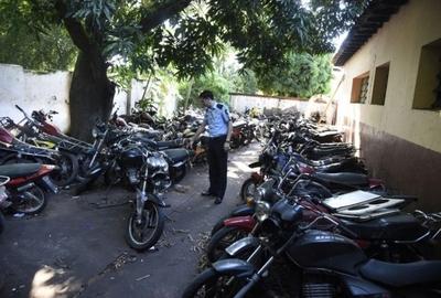 93 motocicletas incautadas por la Policía Nacional en Asunción