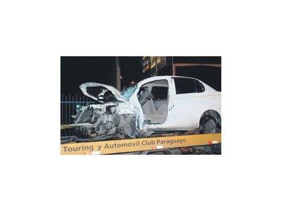 Conductor se accidentó por culpa de un bache