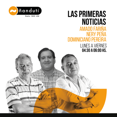 Las primeras noticias con Amado Farina, Nery Peña y Domiciano Pereira