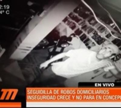 Seguidilla de robos mantiene en zozobra a vecinos en Concepción