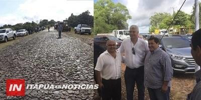 INICIÓ OBRA DE ASFALTO TRAMO SAN SOLANO-FLEITAS CUÉ EN SAN PEDRO DEL PARANÁ.