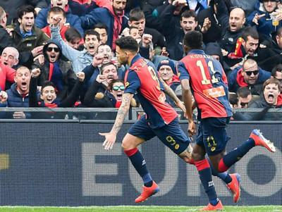 Tonny Sanabria marcó un gol en el triunfo de Genoa ante Lazio
