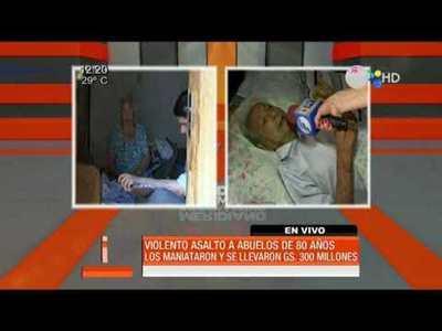 Violento asalto a abuelos de 80 años