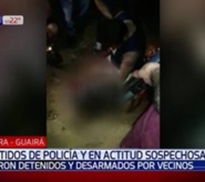 Criminal vestido de policía fue detenido tras enfrentamiento a tiros