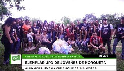 Alumnos de Horqueta festejan UPD llevando víveres a humilde familia – Prensa 5