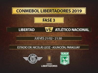 Libertad quiere sacar ventaja ante Atlético Nacional