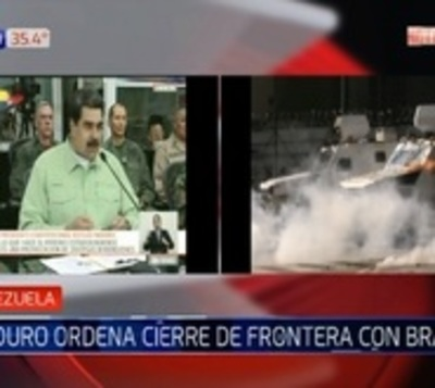 Maduro cierra espacio aéreo venezolano y frontera terrestre con Brasil