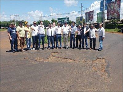 Concejales presionarán por mejora de ruta 10 y supercarretera Itaipú