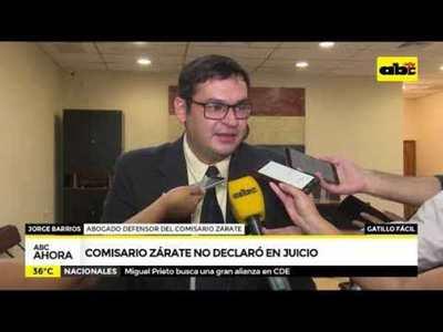 Comisario Zárate no declaró en juicio