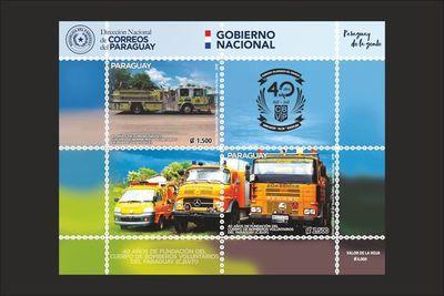 Ponen en circulación estampillas por aniversario del Cuerpo de Bomberos