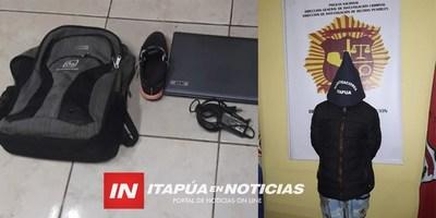 INVESTIGADORES ACLARAN HURTO DE BIENES Y DAN CON EL AUTOR.