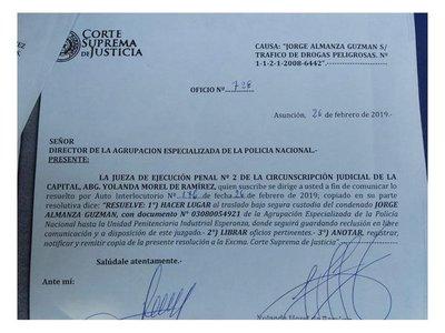 Trasladarán a Tacumbú a dos miembros del Cartel de Sinaloa