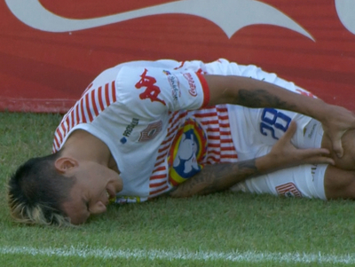 El momento de la lesión de Gustavo Viera