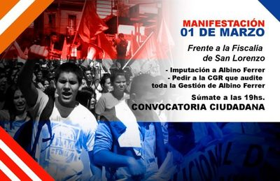 Convocan a una manifestación ciudadana