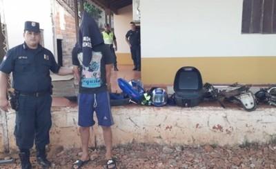 Detenido en desarmadero de motos