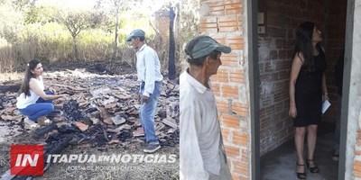 NUEVA CASA PARA DEMETRIO TRAS INCENDIO TOTAL DE SU VIVIENDA.