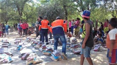 Comunidades indígenas de Itapúa y Presidente Hayes reciben asistencia alimentaria
