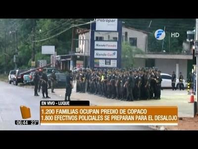 Violento desalojo en Luque