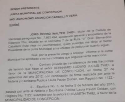 ¿Otra desprolijidad?: negocio con estancia Ybú no habría sido aprobado por Junta Municipal