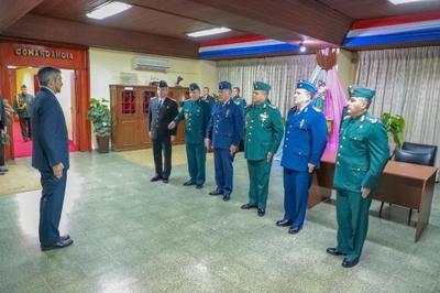 Mandatario cumplió tareas castrenses en el Gran Cuartel del Comando en Jefe