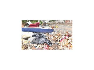 Arrojan basura patológica en zona escolar