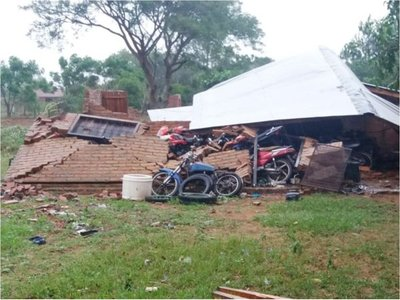 Tormenta causa destrozos y daños  a los pobladores de Ñeembucú