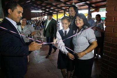Habilitan mejoras en escuela del Área 5 de Pdte. Franco