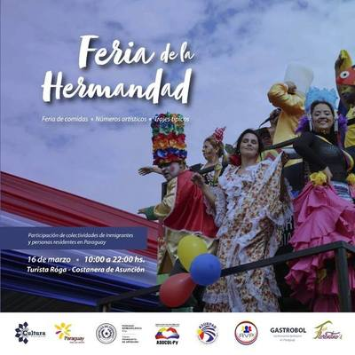 """Asociaciones de inmigrantes de Paraguay organizan """"Feria de la Hermandad"""""""