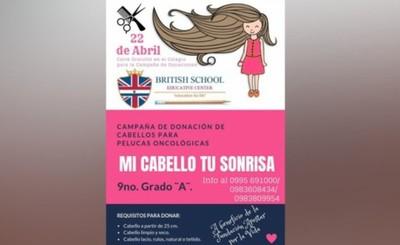 Lanzan campaña de donación de cabellos  para elaborar pelucas