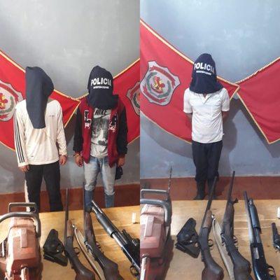 Atrapan a marginales con armas por un intento de asalto en San Alberto