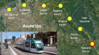 Avanza proyectos de tren de cercanía Asunción Ypacarai