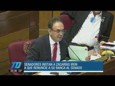 Senadores instan a Javier Zacarías Irún a presentar su renuncia