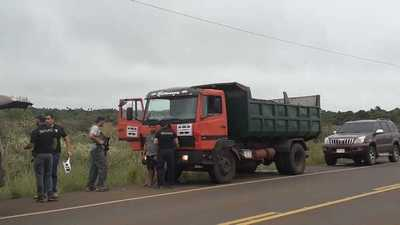 Interceptan carga de marihuana en un camión que transportaba piedra triturada