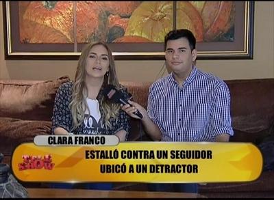 Clara Franco habló de su fuerte respuesta cibernauta