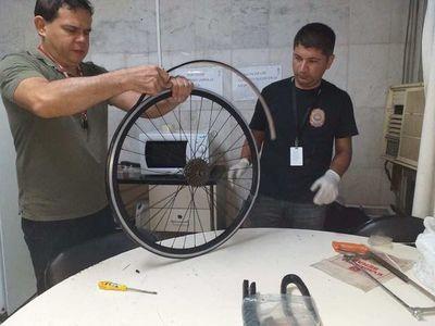 Incautan cocaína en ruedas de bicicletas