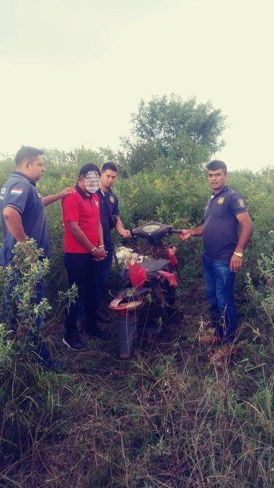 Policías recuperan motocicleta en Concepción