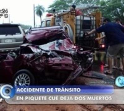 Limpio: Dos fallecidos en accidente de tránsito