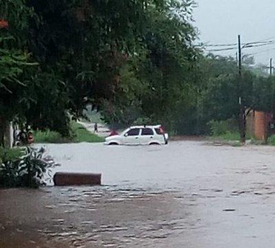 SOS por inundaciones en barrio Ñu Porade San Lorenzo
