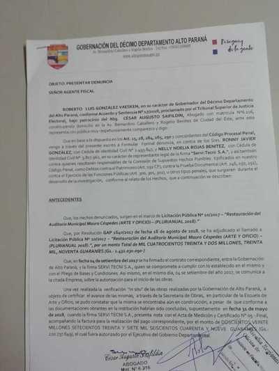 Denuncian a representantes de la firma Servi-Tecni SA por falsificación y producción de documentos públicos de contenido falsos