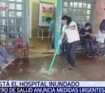 """Ministro anuncia """"solución a corto plazo"""" tras inundación de hospital"""