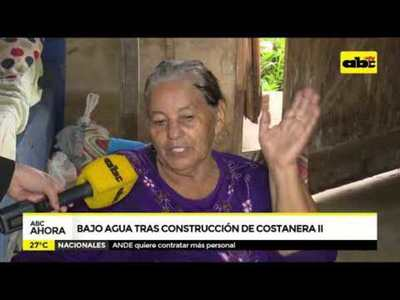 Bajo agua tras construcción de Costanera II