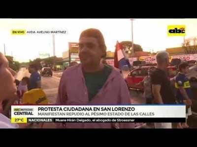 Protesta ciudadana en San Lorenzo