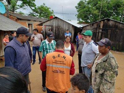 SEN registra más de 2.500 familias asistidas por fuertes lluvias