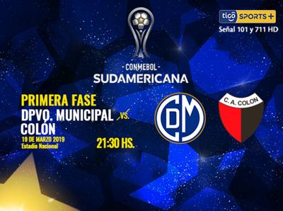 Deportivo Municipal y Colón de Santa Fe se enfrentan en Perú