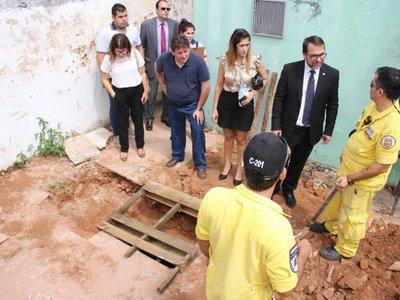 Hallan restos óseos en el microcentro de Asunción