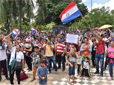Movilización en Asunción por el cese de los desalojos