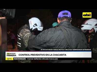 Control preventivo en la Chacarita