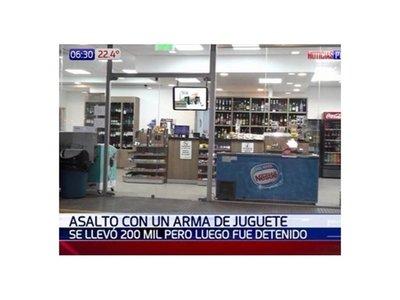 Chico de 15 años asaltó surtidor con una pistola de juguete